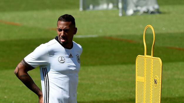 Nationalspieler Jerome Boateng beim Trainings für die EM