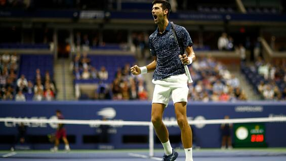 Grandios. Novak Djokovic war der Mann der Nacht in Flushing Meadows.