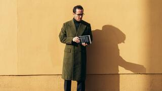 Der Pianist Igor Levit in Berlin-Mitte.