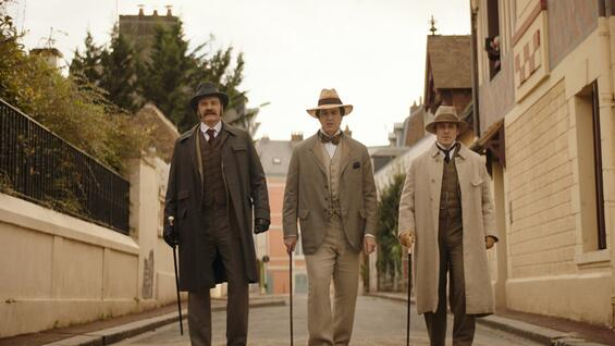 "Colin Firth, Rupert Everett und Edwin Thomas in ""The Happy Prince""."