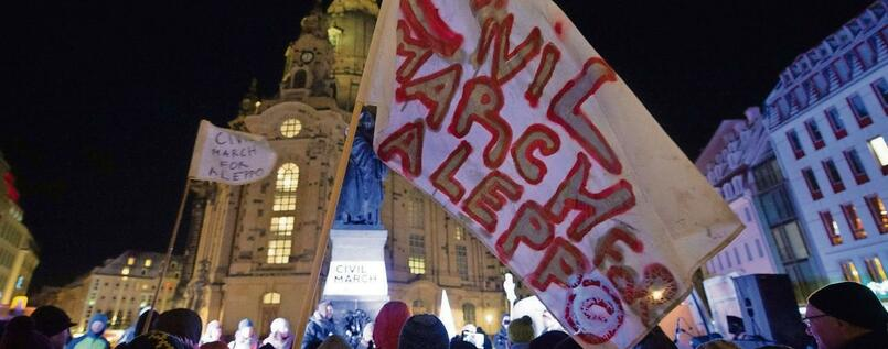 Der Civil March for Aleppo, hier noch in Dresden.