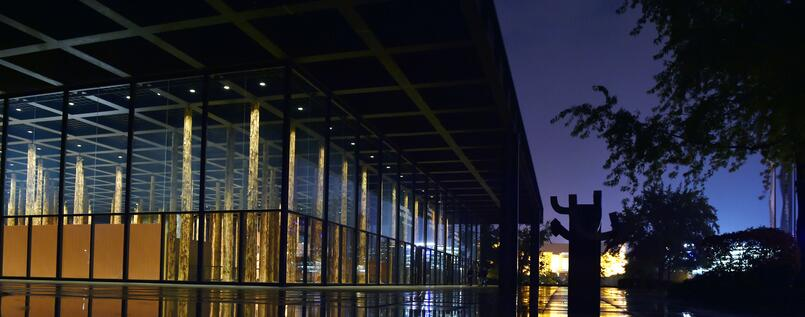 Die Neue Nationalgalerie am Kulturforum Berlin