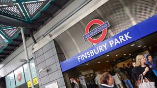 London's Finsbury Park tube station.