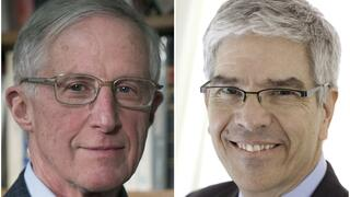 William D. Nordhaus (links) and Paul Romer, Gewinner des Wirtschaftsnobelpreises