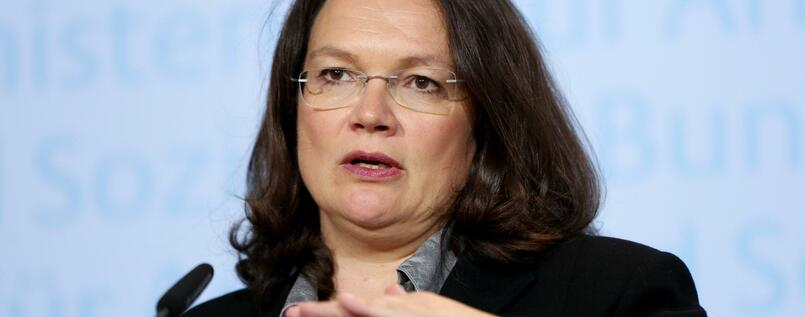 Arbeitsministerin Andrea Nahles.
