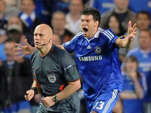 When Ballack momentarily became one with every Chelsea fan watching. Against Barcelona and thanks to Tom Henning Ovrebo.