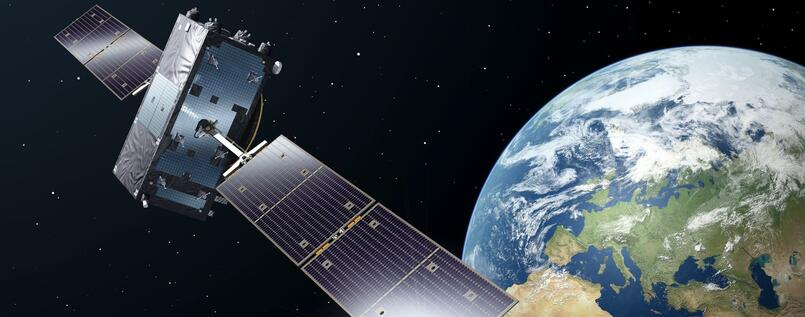 Animation eines Galileo-Full-Operational-Capacity-Satelliten