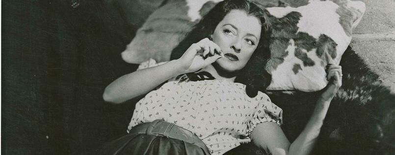 "Verwegene Filmikone. Bette Davies in ""Beyond The Forest"", 1949."