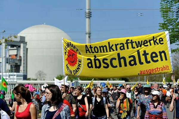 German anti nuclear protesters