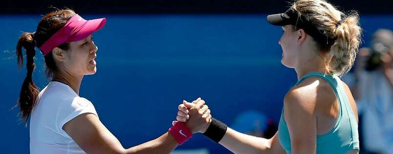 Li Na (links) und Eugenie Bouchard.