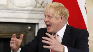 Der britische Premier Boris Johnson am Freitag in London.