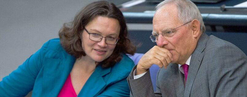 Andrea Nahles und Wolfgang Schäuble.