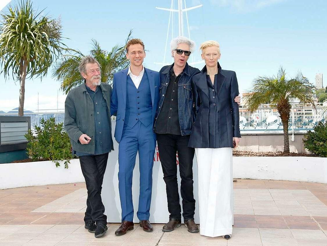 "John Hurt, Tom Hiddleston, Jim Jarmusch und Tilda Swinton stellen ""Only Lovers Left Alive"" vor."
