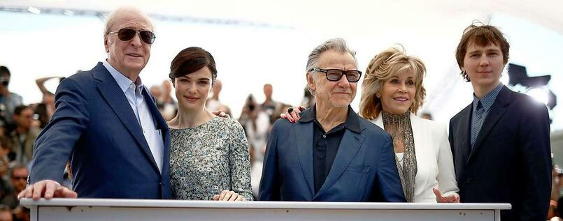 Sir Michael Caine, Rachel Weisz, Harvey Ketiel, Jane Fonda und Paul Dano in Cannes beim Photocall.