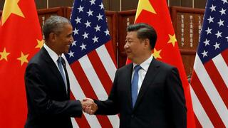 Chinas Präsident Xi Jinping (rechts) and US-Präsident Barack Obama.