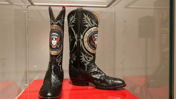These boots are made for... Mr. President.