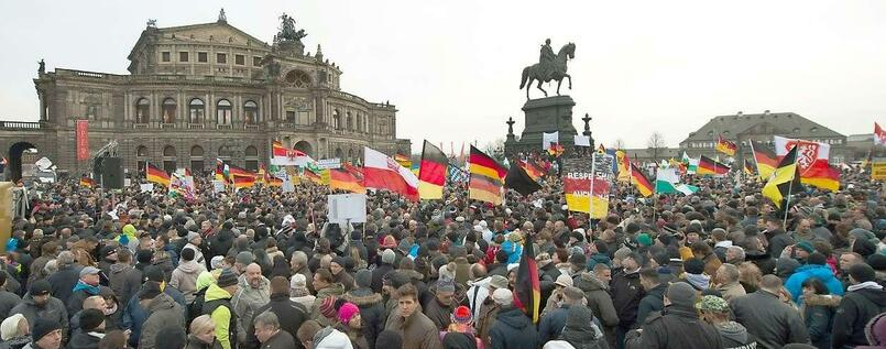 Pegida-Demo in Dresden.