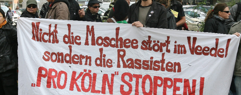 Demonstranten in Köln