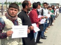 Demonstration gegen Taliban-Gewalt in Afghanistan