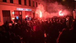 Demonstranten waren in Leipzig unterwegs.