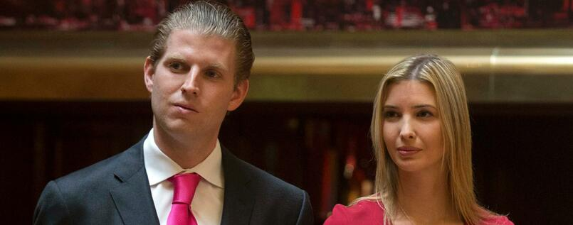 Eric Trump and Ivanka Trump 2014 in New York.