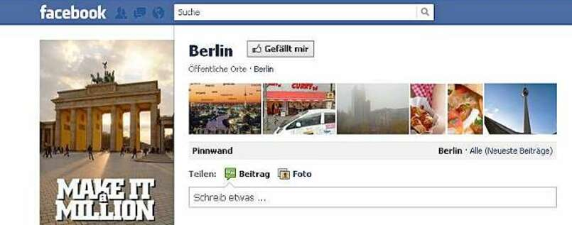 """Make it a million"": Berlin hat's geschafft. Zumindest auf Facebook."