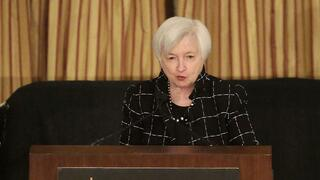 Janet Yellen bei ihrer Rede in Chicago.