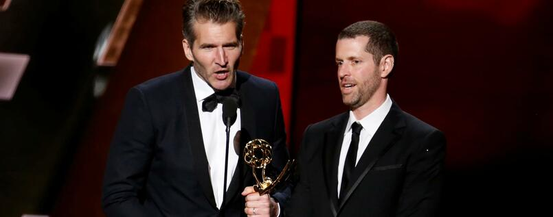 David Benioff (li.) and D.B. Weiss.
