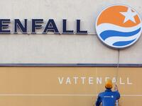 Vattenfall-Logo in Berlin.
