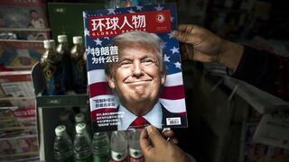 Donald Trump ist die News in China.