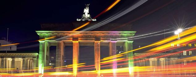 Das Brandenburger Tor während des Festival of Lights