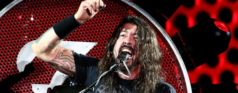 Foo Fighters-Frontmann Dave Grohl auf seinem Rock'n'Roll-Thron