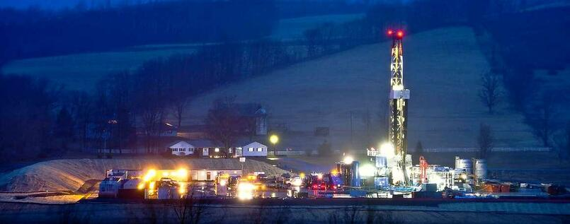 Fracking in Pennsylvania, USA.