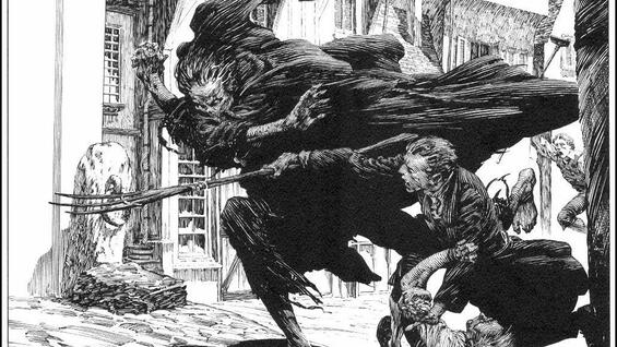 "Moderner Klassiker: Eine von Wrightsons Illustrationen zu Mary Shelleys ""Frankenstein""."