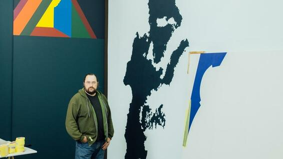 Franz Ackermann in der Galerie Meyer Riegger in Berlin-Kreuzberg.