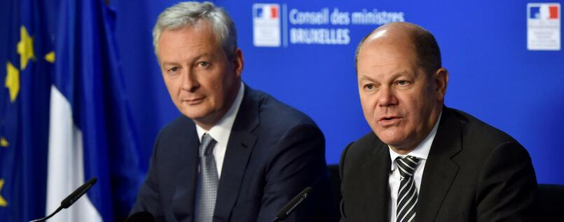 Bruno Le Maire und Olaf Scholz.
