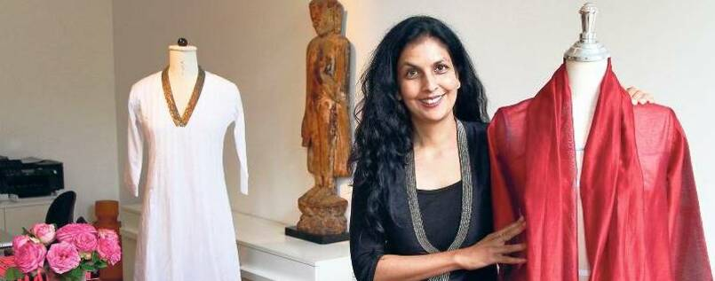 Anjana Das in ihrem Showroom in Berlin.