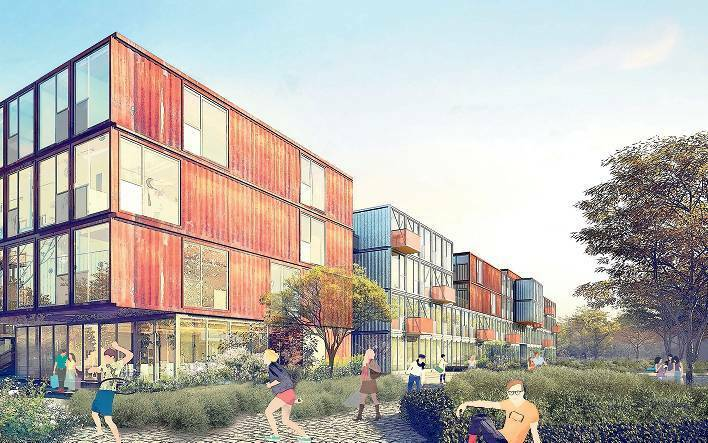 Containerdorf in Berlin: Living in a box - Berlin - Tagesspiegel