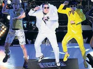 PSY auf dem Times Square.