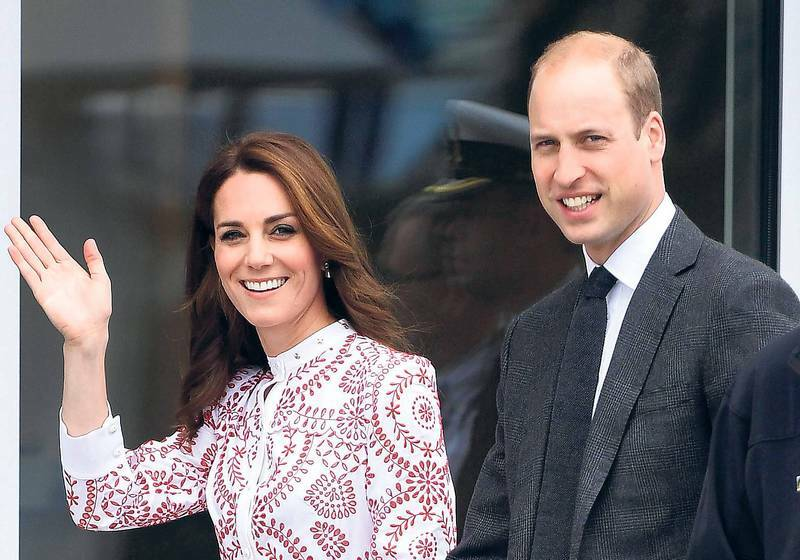 William und Kate reisen im Zug