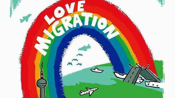 "Der Comic ""Love Migration"" von Elke Steiner."