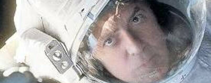 "George Clooney als Astronaut in ""Gravity""."