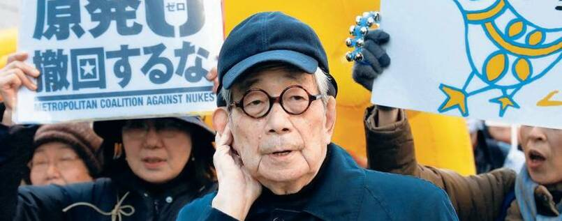AKW? Nee. Kenzaburo Oe als Demonstrant in Tokio, März 2014.