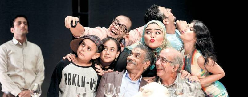 "Familien-Bande. Szene aus Ahmed El Attars Satire ""The Last Supper""."
