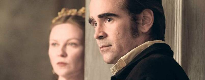 "Bange Blicke. Colin Farrell und Kirsten Dunst in ""The Beguiled""."