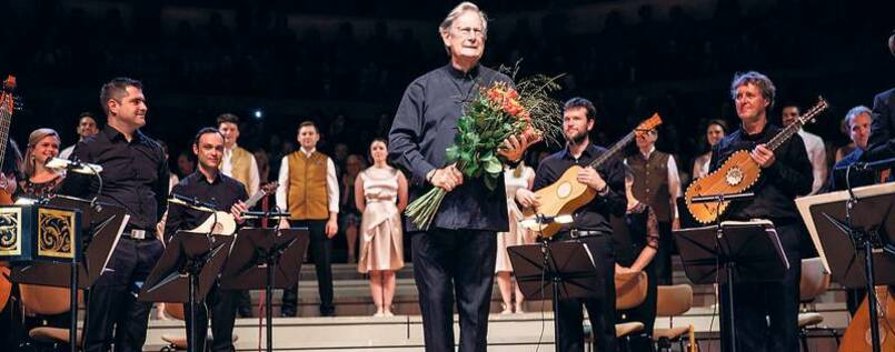 John Eliot Gardiner mit dem Monteverdi Choir und den English Baroque Soloists in Berlin.