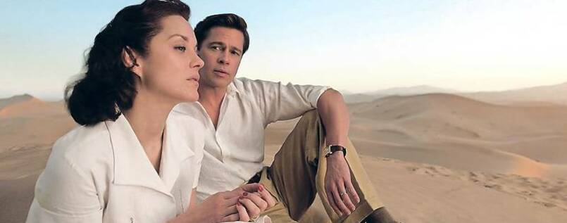 "Marion Cotillard und Bard Pitt in ""Allied""."