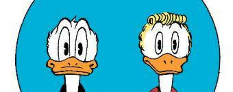 Zwei perfekte Enten: Donald Duck (links) und Gustav Gans. Foto: Hall of Fame: Jan Gulbransson