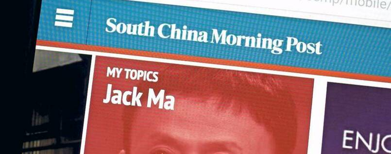 "Titelstory. Alibaba-Gründer Jack Ma in der ""South China Morning Post""."