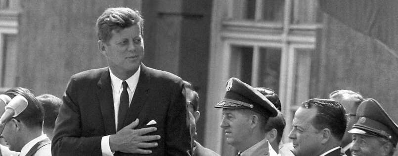 John F. Kennedy in Berlin.